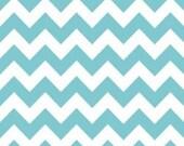 Riley Blake Medium Chevron Fabric in Aqua -- 1 yard