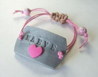 Big Sister Little Sister Personalized Dog Tag ID Bracelet B025