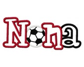 Soccer Nana Nona 2 color Embroidery Machine Applique Digital Design 2890