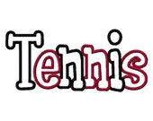 Tennis 2 Color Embroidery Machine Applique Design 2918