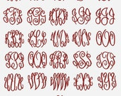 3 Letter Circle Embroidery Machine Alphabet Monogram 2796 Instant Download
