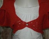 Cotton shrug for girls/ custom orders/ Hand knit