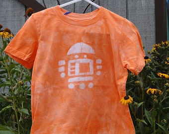 Kids Robot Shirt, Robot Kids Shirt, Orange Robot Shirt, Boys Robot Shirt, Girls Robot Shirt, American Made Kids Shirt, Batik Kids Shirt (6)