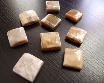 Fossilized Rock Polished Square Beads (No. 1456)