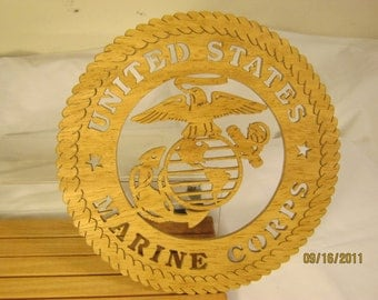 US MARINE CORPS Scroll Saw Plaque - Hobbyist License 31522