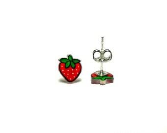 Lil' Strawberries, Stud Earrings