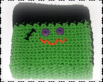 Crochet Frankenstein Hat, Halloween photo prop