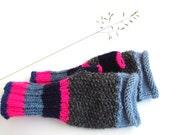 Girls gloves, neon fingerless gloves, women accessory