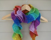 Reserved for Sylvia :Ruffled Rainbow Scarf