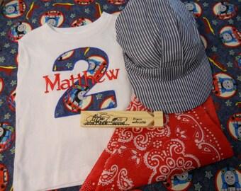 Thomas the Train Birthday Shirt Set-Short Sleeve