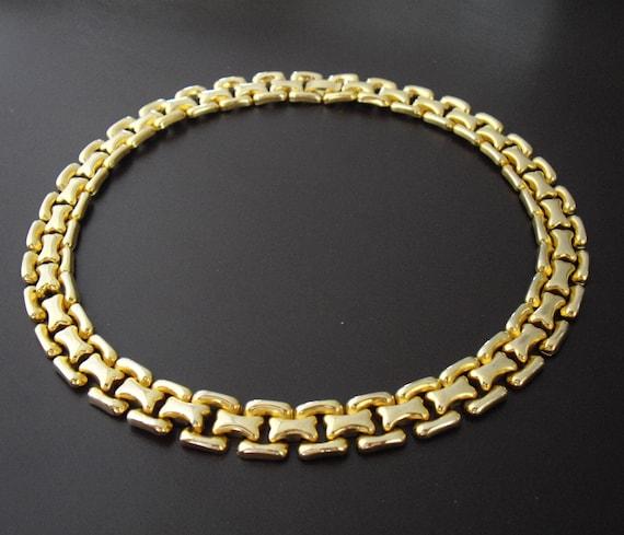 Vintage Gold  Necklace-Collar Necklace-Choker Necklace