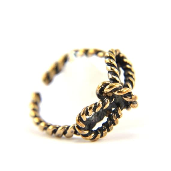 Two for One Sale....Tiny Bow Rope Ring