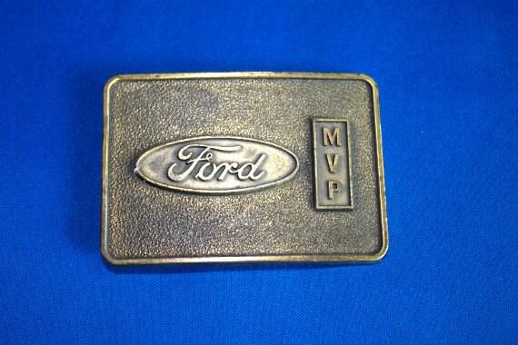 Vintage 1970s Belt Buckle Ford Motor Company MVP