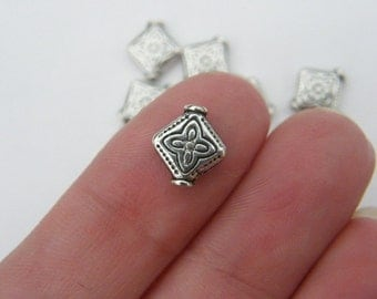 16 Spacer beads antique silver tone S14