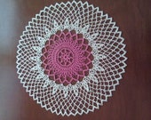 Pink and White Lacy Doily