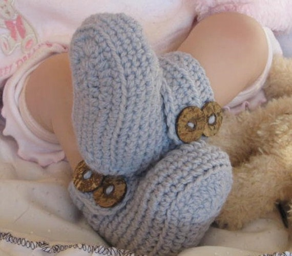 Baby Crochet PATTERN Wrap Around My Heart Booties/UGG by ...
