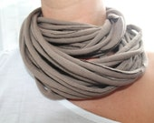 Up-Cycled T-shirt scarf/necklace