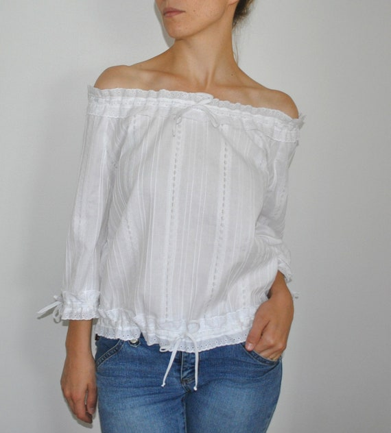 White Blouse With Peasant Sleeves 22