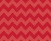 Medium Chevron Tone on Tone Red by Riley Blake Designs 1/2 yd total