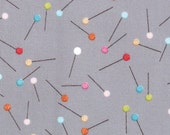 Sale... Sew Stitchy from Aneela Hoey for Moda, pins needle 1/2 yard, more yardage in stock