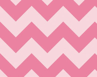 Chevron in LARGE Tone on Tone Pink by Riley Blake Designs 1/2 yard total