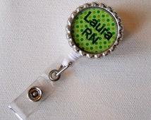 Personalized RN Green - Name Badge Holder - Fun Badge Reel - Custom ID Badge Reel - RN Badge