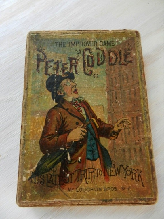 Antique Card Game / Peter Coddles New York Trip / The Improved Game / 1900