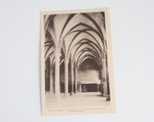 Vintage French Carte Postale: Antique Le Mont St. Michel Post Card, Laurent-Nel - Rennes. Souvenier Card, Saint Michel Cloisters