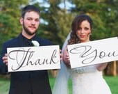 Thank You Signs, Vintage Wedding Signs, Thank You Cards, Reception Signs, Bride Signs, Marriage Signs.  8 X 16 inches, 1-sided.