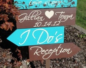 Wedding Signs, Wedding Directional Arrow Signs with the Bride and Groom Names and Wedding Date, Keepsake Sign. Welcome to our Love Story.