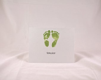 Baby Thank You Cards set of 10 - Apple Green