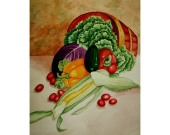 Bounty (Vegetable Basket) - Limited Edition Giclee