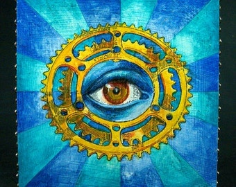 Shifty Eye Bicycle Eye Chainring Painting