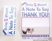 GIRLS Superhero Newspaper PRINTABLE Thank You Cards