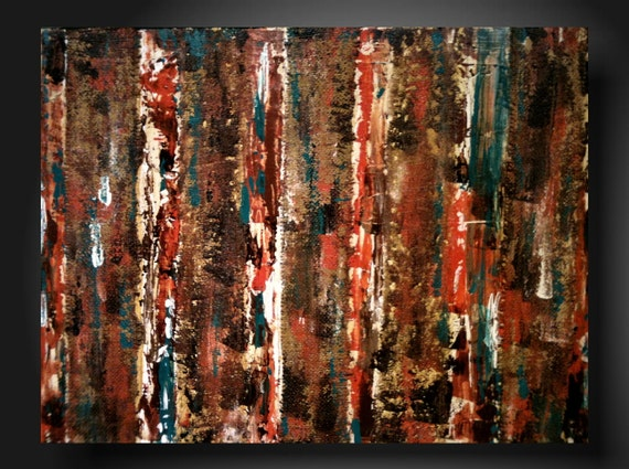 Abstract original Contemporary Fine Art Abstract Textured Painting modern  18 X 24 Inches----Textured--mixed medium