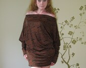 Off the Shoulder / Dolman Sleeve Dress / Top / Sweater - XLarge - (More Prints) - Made to Order