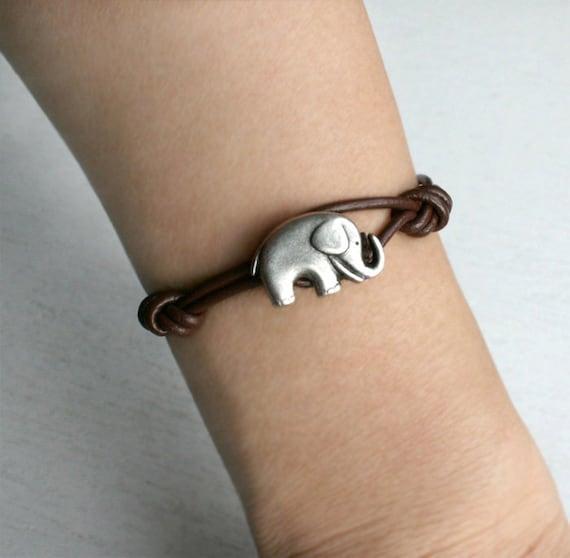 Elephant Leather  Bracelet (12 colors to choose) (set of 3)