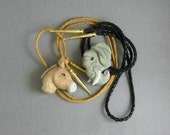 Demacrat or Republican wear your Choice of hand carved Bolo Tie Elephant or Mule