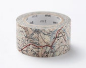 Discontinued-MT ex 2012 Autumn - Japanese Washi Masking Tape / Map 25mm