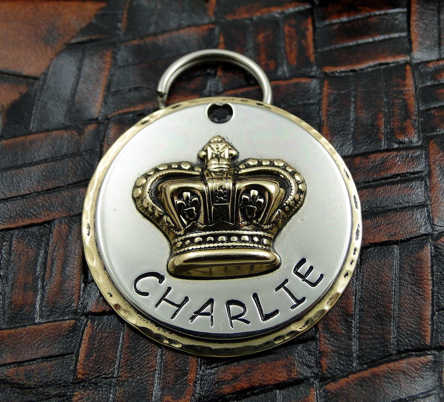 Crown Dog Name Tags