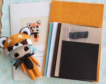 Peek-a-Boo Red Panda Pattern Kit