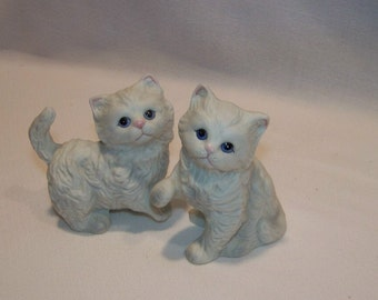 Pair of Vintage Home Interiors Homco Collectible Kitten Figurines