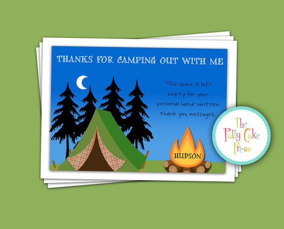 Camping Themed Birthday Party Invitations as good invitation ideas