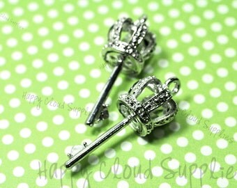 3D Rhinestone Crown Key Charm... 2pcs