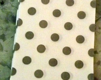 Paper Bags Gray Polka Dot Little Bitty Bags Set of 10