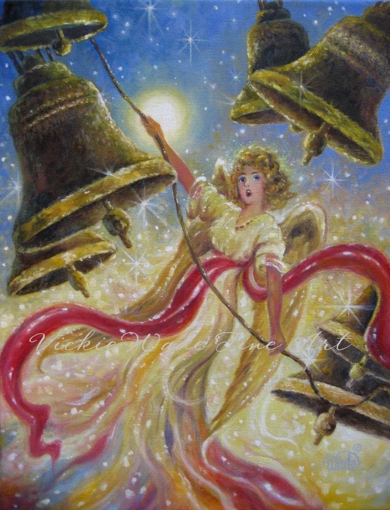 Angel Art Print Angel Paintings Heavenly Angels Christmas