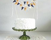 Autumn Copper Navy And Burlap 3 Tier Cake Bunting Decoration