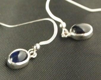 Sterling Silver and Iolite Drop Earrings
