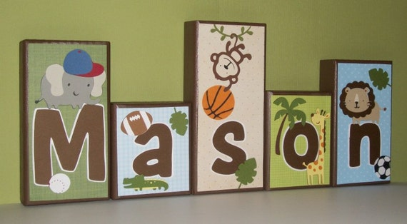 Items Similar To Personalized Wood Blocks