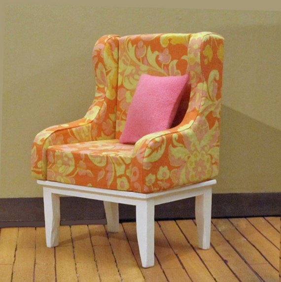 Paisley Days Hostess Chair - OOAK Sixth Scale Furniture